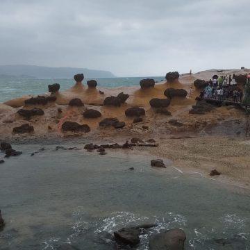 הפארק הגיאולוגי yehliu ביום סגריר